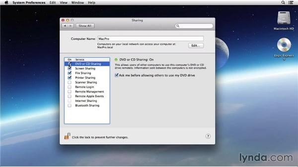 Using a remote disc: Mac OS X 10.8 Mountain Lion Tips and Tricks