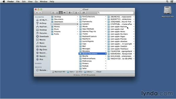 Locating locally stored iCloud files: Mac OS X 10.8 Mountain Lion Tips and Tricks