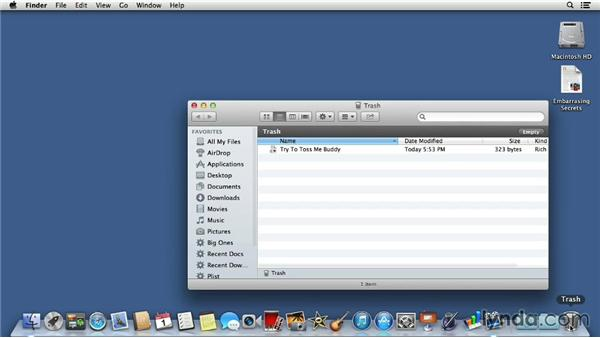Forcing a stubborn Trash to empty: Mac OS X 10.8 Mountain Lion Tips and Tricks