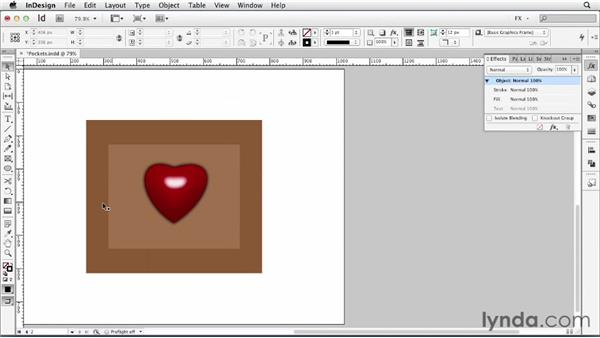 100 Creating a 3D pocket with bevel and gradient: InDesign FX