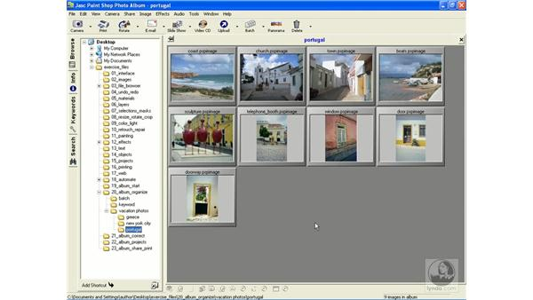 opening albums and files: Learning Jasc Paint Shop Power Suite Photo Edition