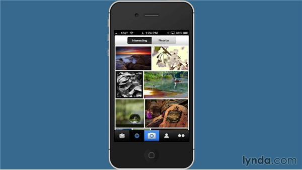 Exploring Flickr on the Flickr mobile app: Flickr Essential Training