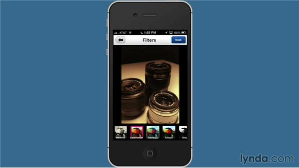 Choosing filters with the Flickr app: Flickr Essential Training