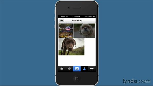 Managing your photostream on the Flickr mobile app: Flickr Essential Training