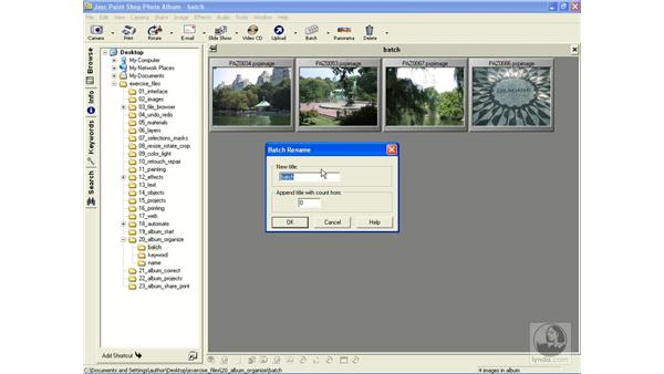 batch renaming images: Learning Jasc Paint Shop Power Suite Photo Edition