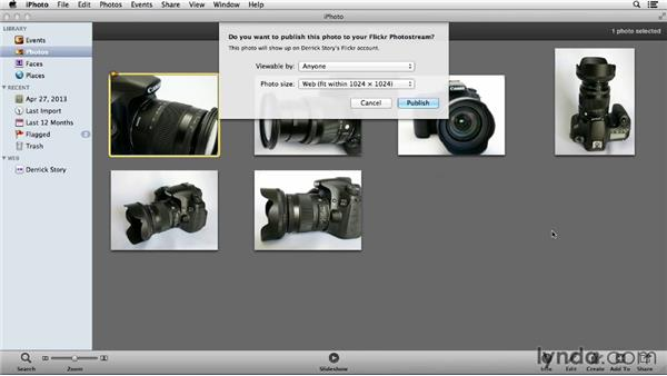 Uploading from iPhoto: Flickr Essential Training