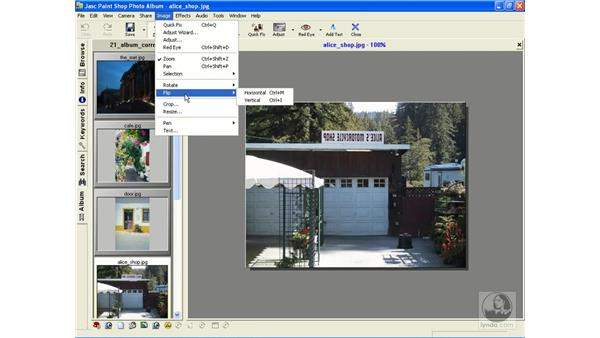 rotating and flipping images: Learning Jasc Paint Shop Power Suite Photo Edition