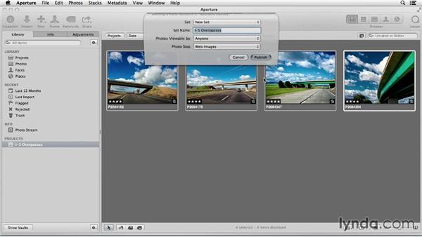 Uploading from Aperture: Flickr Essential Training