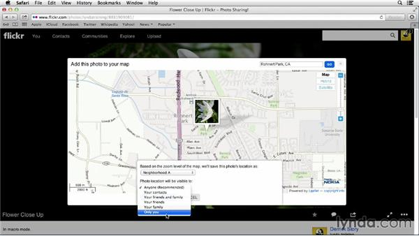 Adding a photo to your map: Flickr Essential Training