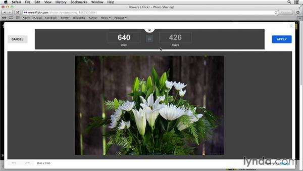 Rotating, cropping, and resizing: Flickr Essential Training