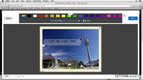 Adding text and frames: Flickr Essential Training