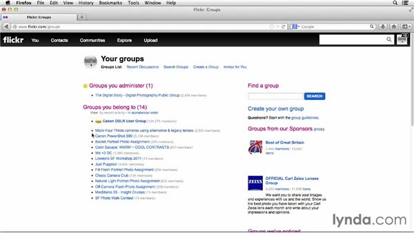 What are groups?: Flickr Essential Training