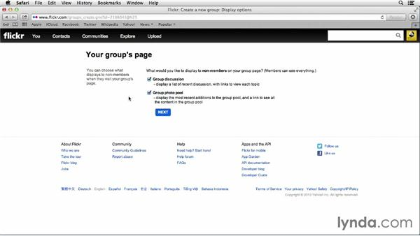 Starting and administering your own group: Flickr Essential Training
