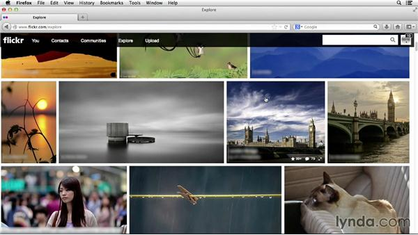 Exploring the Explore page: Flickr Essential Training