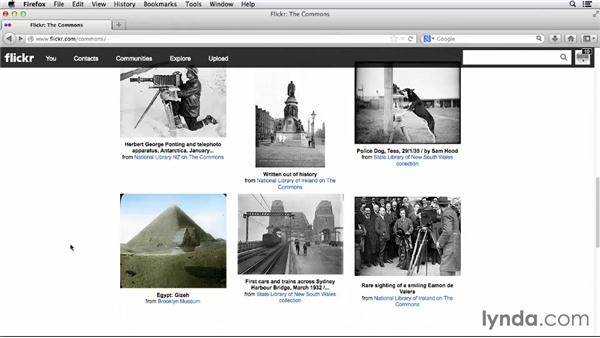 Perusing The Commons: Flickr Essential Training