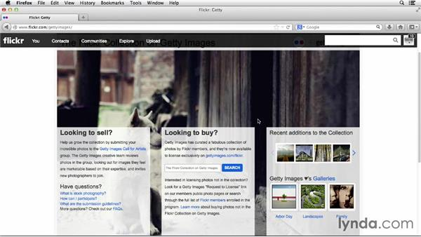 Looking at the Getty collection: Flickr Essential Training