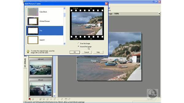 adding frames to photos: Learning Jasc Paint Shop Power Suite Photo Edition