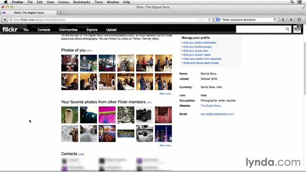 Reviewing your Flickr profile: Flickr Essential Training