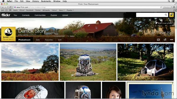 Editing your cover photo: Flickr Essential Training