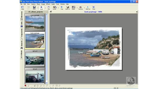 adding an edge to photos: Learning Jasc Paint Shop Power Suite Photo Edition