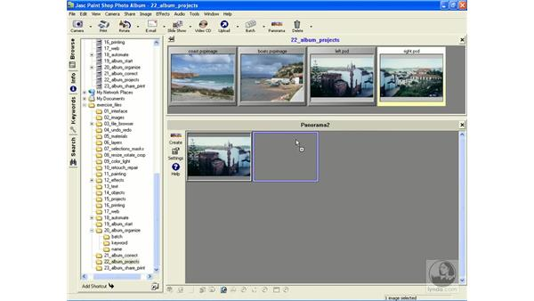 making a panoramic image: Learning Jasc Paint Shop Power Suite Photo Edition