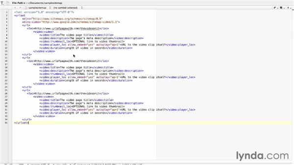 Creating a video XML site map: Video SEO Basics