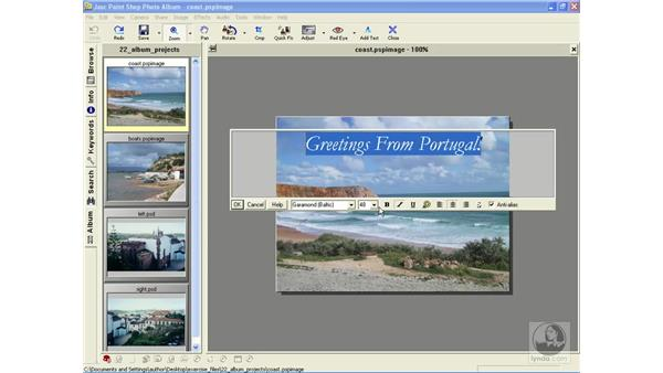 adding text: Learning Jasc Paint Shop Power Suite Photo Edition