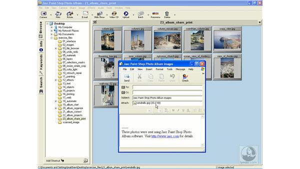 emailing images: Learning Jasc Paint Shop Power Suite Photo Edition