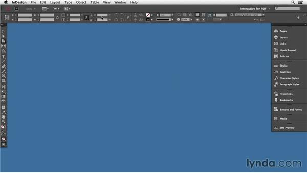 Customizing the workspace: InDesign CC: Interactive Document Fundamentals (2014)