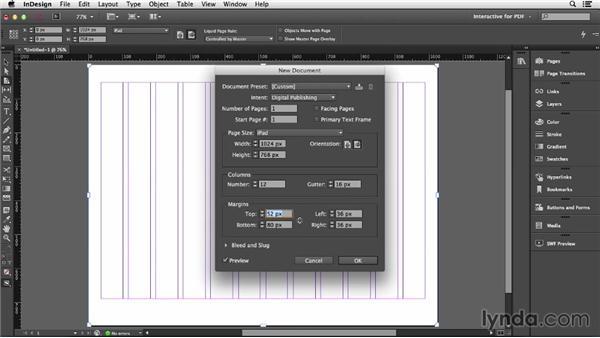 Creating document presets: InDesign CC: Interactive Document Fundamentals (2014)
