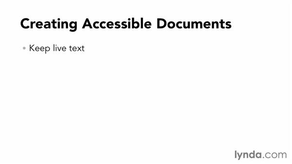 Accessible PDFs: InDesign CC: Interactive Document Fundamentals (2014)