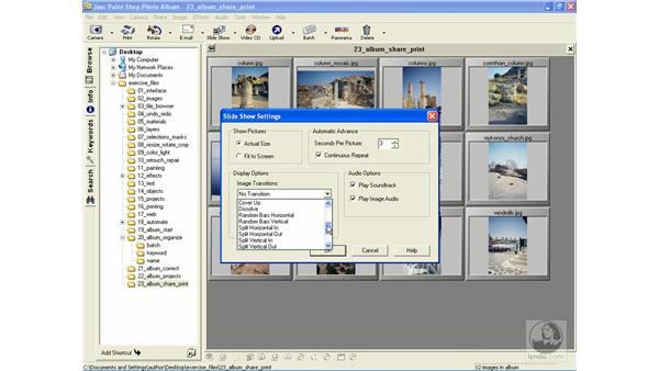 creating a slide show: Learning Jasc Paint Shop Power Suite Photo Edition