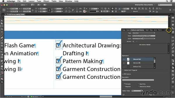 Understanding form objects: InDesign CC: Interactive Document Fundamentals (2014)