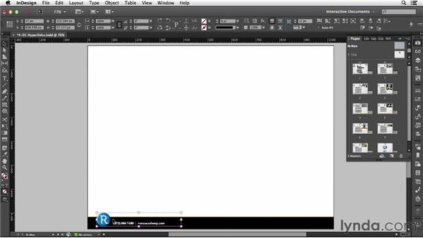 Using hyperlinks: InDesign CC: Interactive Document Fundamentals (2014)