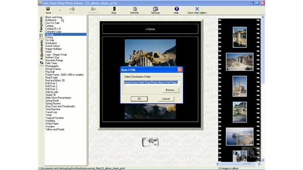 making a web photo gallery: Learning Jasc Paint Shop Power Suite Photo Edition