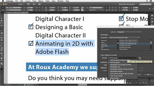 Using cross-references: InDesign CC: Interactive Document Fundamentals (2014)