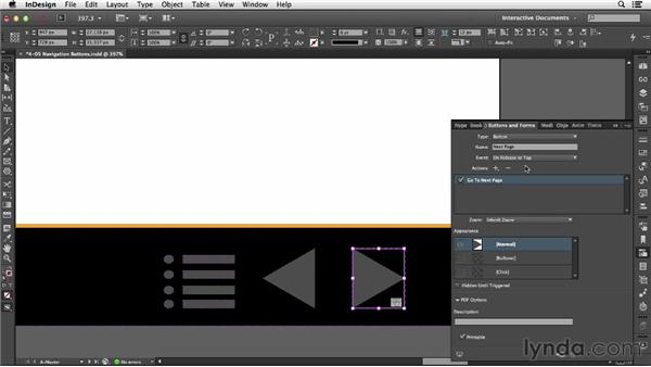 Using navigation buttons: InDesign CC: Interactive Document Fundamentals (2014)
