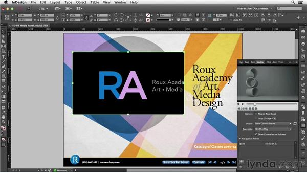 Using the Media panel: InDesign CC: Interactive Document Fundamentals (2014)