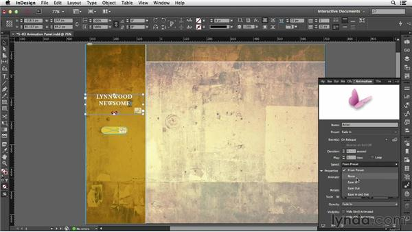 Using the Animation panel: InDesign CC: Interactive Document Fundamentals (2014)