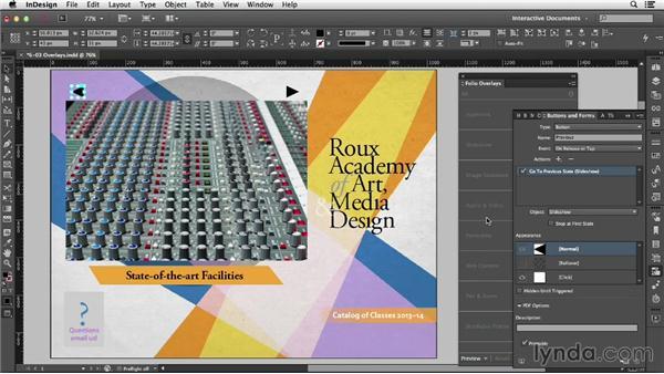 Creating folio overlays: InDesign CC: Interactive Document Fundamentals (2014)