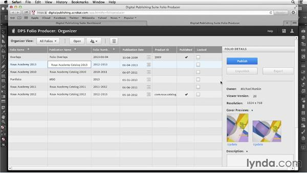 Using the Folio Producer: InDesign CC: Interactive Document Fundamentals (2014)