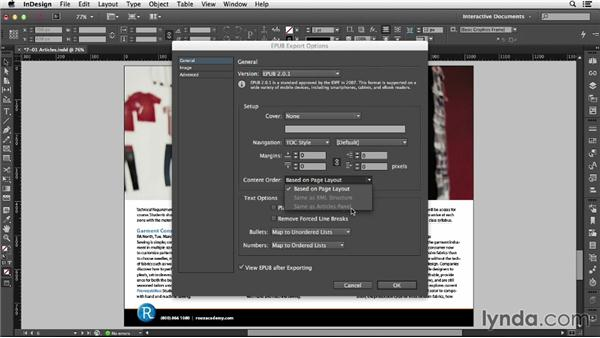 Using the Articles panel: InDesign CC: Interactive Document Fundamentals (2014)