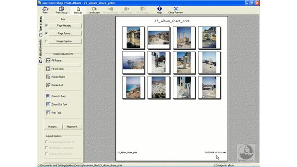 printing contact sheets: Learning Jasc Paint Shop Power Suite Photo Edition