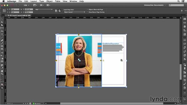 Using Liquid Layout: InDesign CC: Interactive Document Fundamentals (2014)