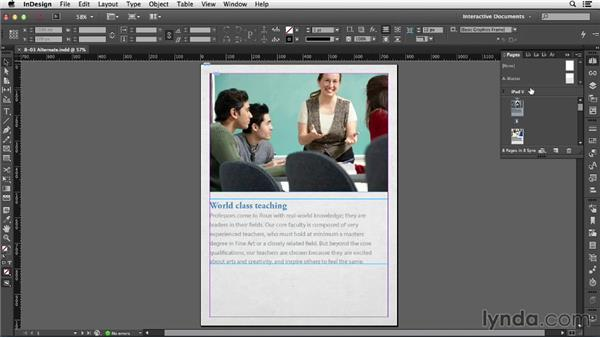 Using alternate layouts: InDesign CC: Interactive Document Fundamentals (2014)