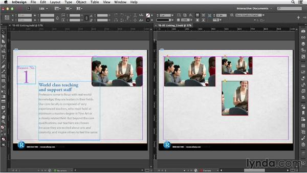 Linking page items: InDesign CC: Interactive Document Fundamentals (2014)