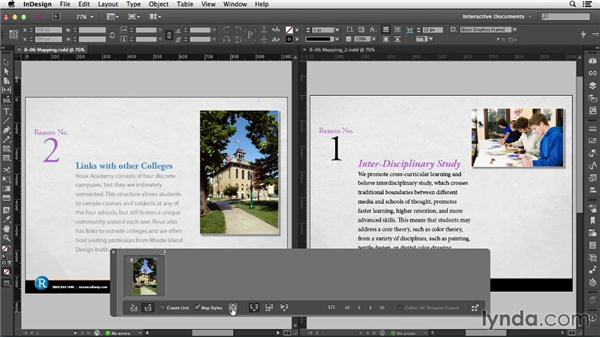 Using text style mapping: InDesign CC: Interactive Document Fundamentals (2014)