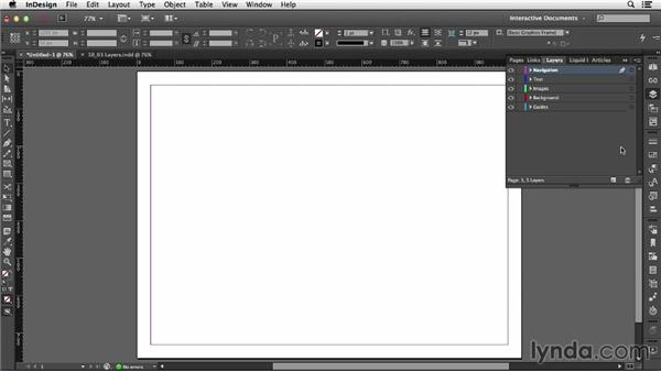 Using layers in interactive documents: InDesign CC: Interactive Document Fundamentals (2014)