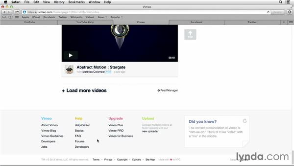 Using help features: Up and Running with Online Social Video
