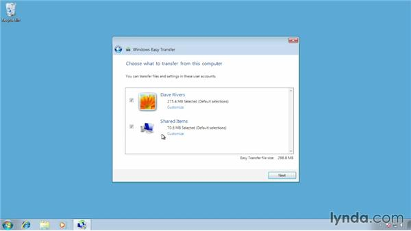 Using Easy Transfer to store files and settings: Migrating from Windows 7 to Windows 8